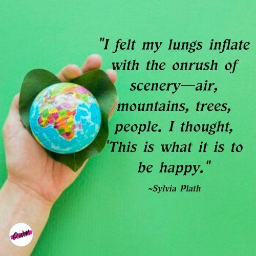earth day Sylvia Plath